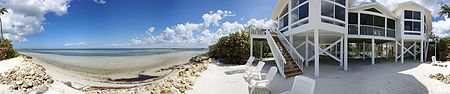 Tropical Waterfront Duplex Vacation Home with Private Beach