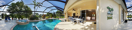 Traumvilla in Cape Coral am Kanal mit Pool und SPA bis 8 Personen